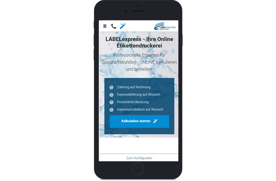 Vm Webseite Referenzen Labelexpress Iphone